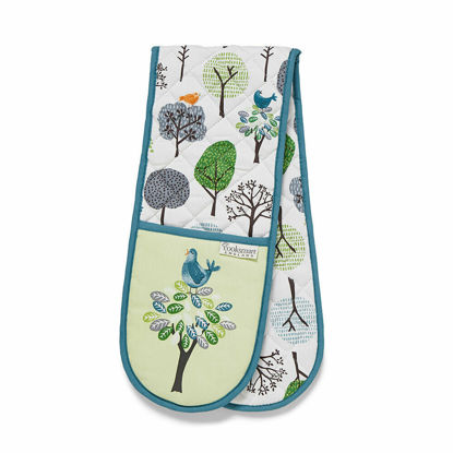 Picture of Cooksmart Double Oven Glove Forest Birds