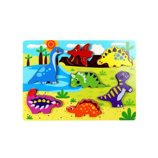 Wooden Dinosaur Chunky Puzzle