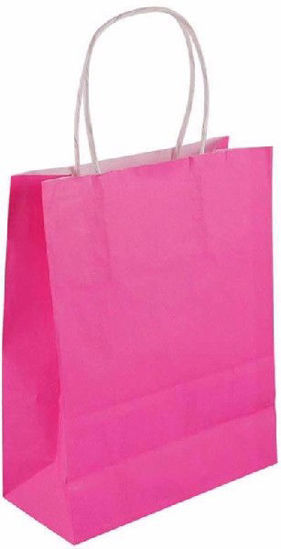 Hot Pink Bag with Handles