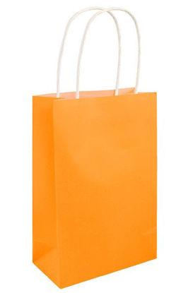 Neon Orange Gift Bag with Handle