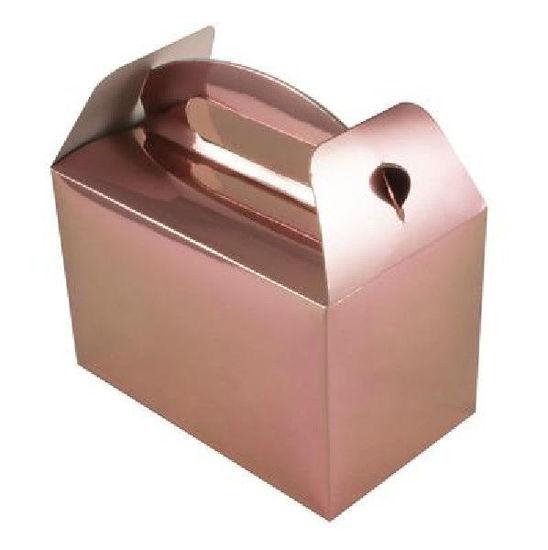 Metallic Rose Gold Party Boxes
