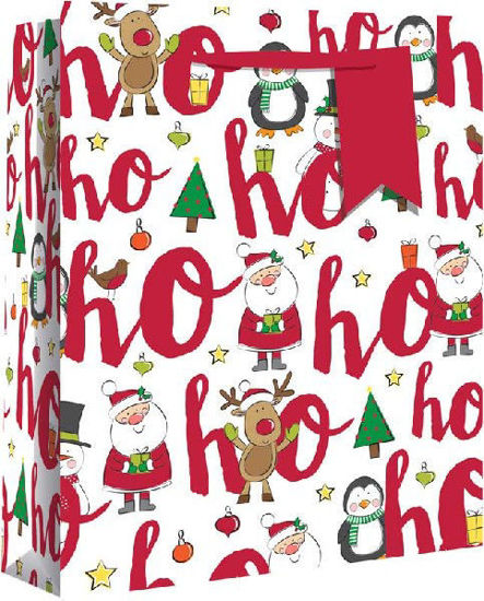 Ho Ho Ho Wide Gusset Gift Bag