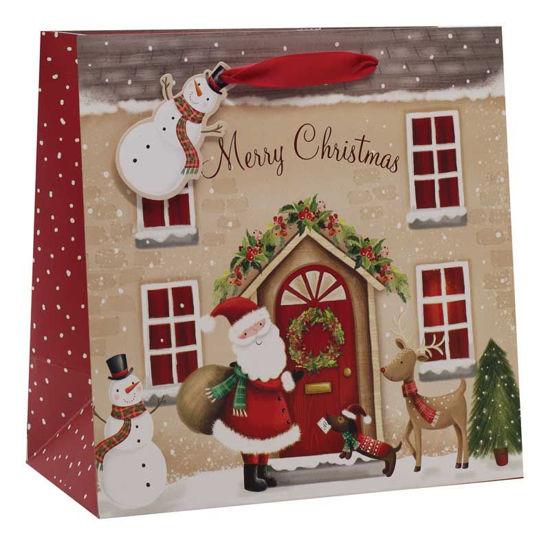 Santa House Large Square Bag