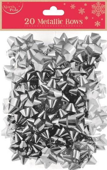 Silver Metallic Bows