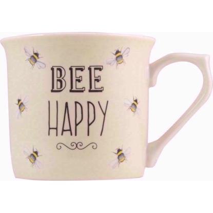 Bee Happy Fine China Mug (Cream)