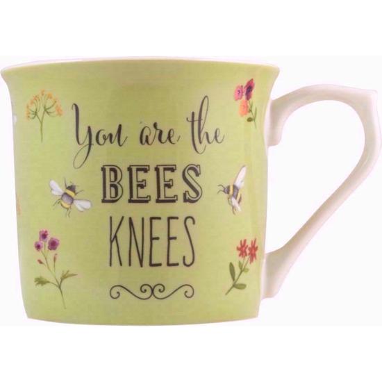 Bee Happy Fine China Mug (Green)