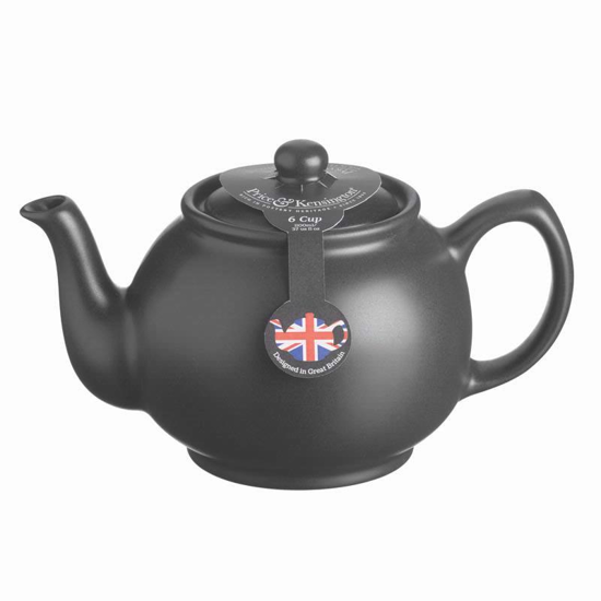 Price & Kensington Matt Black 6 Cup Teapot